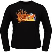 T-Shirts Manches Longues Manga - Parodie Naruto - Un Nouveau Dresseur... - T-Shirt Manches Longues Noir