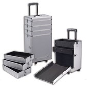 Valise Grise Trolley Sp�ciale Maquillage Beaut� Cosm�tique Coiffure