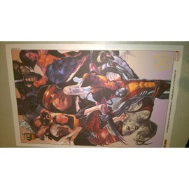 Lot De 4 Lithographies Marvel Par Marko Djurdjevic
