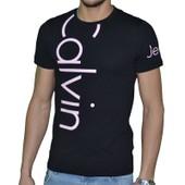 Calvin Klein - T Shirt Manches Courtes - Homme - Cmp13s - Noir Rose