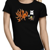 T-Shirt Manga - Parodie Naruto - Traduction Anglais - T-Shirt Femme Noir L