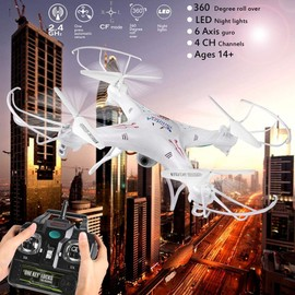 2mp Hd 4ch 2.4g 6-Axis Arshiner Gyro Headless Mode Rc Quadcopter Drone Avec La Cam�ra Veilleuses � Led