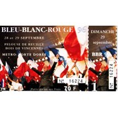 Ticket Bleu Blanc Rouge Bbr 96 Front National Fn Le Pen