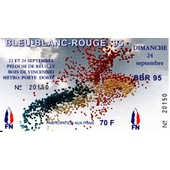 Ticket Bleu Blanc Rouge Bbr 95 Front National Fn Le Pen