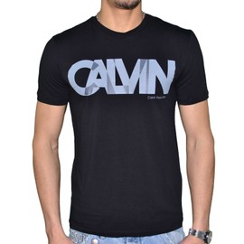 Calvin Klein - T Shirt Manches Courtes - Homme - Tinker J3ej300683 965 - Noir