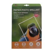 Papier Photo Brillant A4 200g Compatible Hp Epson Canon Brother Lexmark X20f