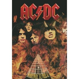 ac/dc acdc highway to hell drapeau 110 cm x 75 cm