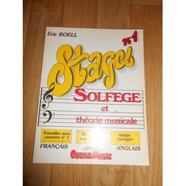 Stage n01 - Solfege et theorie musicale