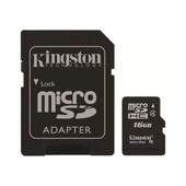 Kingston - Carte M�moire Flash ( Adaptateur Microsdhc - Sd Inclus(E) ) - 16 Go - Class 4 - Microsdhc