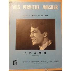 """Partition ancienne d'Adamo """" Vous permettez monsieur """""""