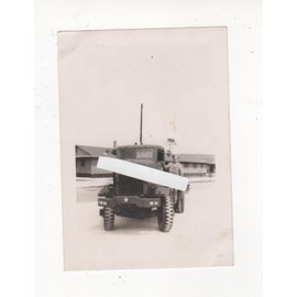 PHOTO GUERRE 1939 45 WW2 CAMION US ARMY RANGERS AMERICAIN GI'S DEBARQUEMENT NORMANDIE CAMPAGNE DE FRANCE TRANSPORT POIDS LOURD PL