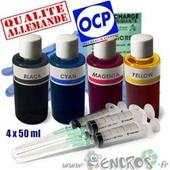 Recharge Encre- Kit Encre 4x50ml Couleurs Universelles Pour Lexmark