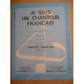 JE SUIS UN CHANTEUR FRANCAIS Vincent Sinclair