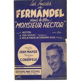 Partition HECTOR film Monsieur Hector FERNANDEL 1943 n°454