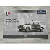 Fiche Peugeot 404 Break Police Brigade Fluviale (Police Cars Collection)