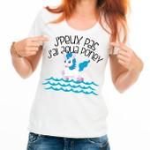 T-Shirt J'peux Pas, J'ai Aqua Poney