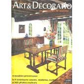 Art & Decoration - La Revue De La Maison - N�173 - Meubles Provencaux - 11 Interieurs : Ancien, Moderne, Rustique de COLLECTIF
