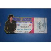 Ticket Michael Jackson Concert Parc Des Princes Du Mardi 28 Juin 1988 Pour Un Collectionneur Billet Complet Avec Sa Souche