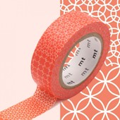 Rouleau 15mm X 10m Motif Traditionnel Rouge / Line Pattern Red - Masking Tape
