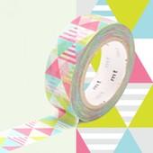 Rouleau 15mm X 10m Motif Losanges Rose / Shimasankaku Pink - Masking Tape