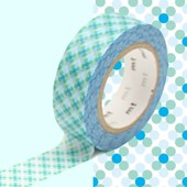Rouleau 15mm X 10m Motif Points Bleu / Oboro Dot Water - Masking Tape