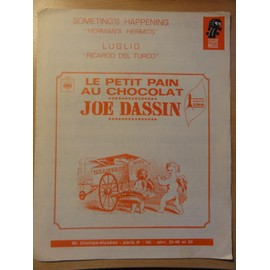 "Partition ancienne de Joe Dassin "" Le Petit pain au chocolat """