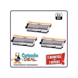 Brother Tn2220 Lot 3 Toners Compatible Hl 2240 2250dn 2270dw Mfc 7360n 7460 7860