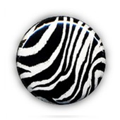 1 Badge Zebre Noir Et Blanc Pop Rock Punk Goth Rockabilly Pins Button �25mm