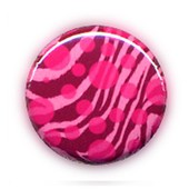 1 Badge Zebre Rose Bubble - Pop Rock Punk Goth Rockabilly Pins Button �25mm