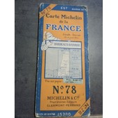 Carte Michelin De La France N�78 Clermont-Ferrand 1924 de michelin