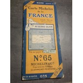 Carte Michelin N�65 Auxerre-Dijon 1925-2550-112 de michelin