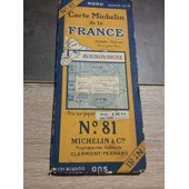 Carte Michelin N�81 Avignon-Digne 1926-2648-22 de michelin
