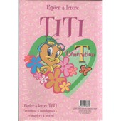 Set De Papier � Lettre Titi Rose 10 Papiers A Lettre 6 Enveloppes