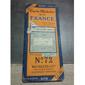 Carte Michelin N�72 Angoul�me-Limoges 1924-2445-111 de michelin