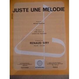 JUSTE UNE MELODIE Renaud Siry
