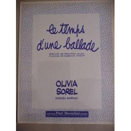 LE TEMPS D'Une BALLADE Olivia Sorel