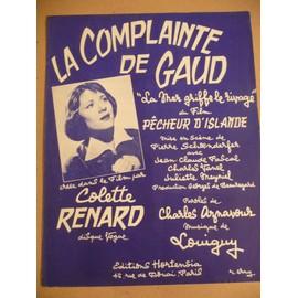 LA COMPLAINTE DE GAUD Colette Renard Aznavour