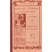 Exercices Et Probl�mes De 2� Ann�e �dition Corrig�e 1911 de Leyssenne et Cuir