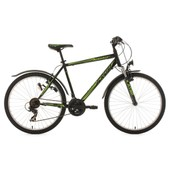 Vtt Atb Semi-Rigide 26 Icros Noir-Vert Tc 51 Cm Ks Cycling