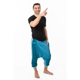 Fantazia - Sarouel Homme L�ger - Sarouel Pantacourt Babacool Homme Pur Coton Leger Bleu Zen