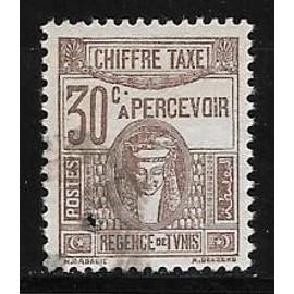 Timbre taxe de Tunisie de 1923,n°42,30c.