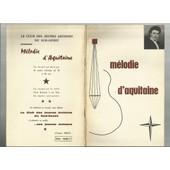 Melodie D'aquitaine de lanuti anne marie - laures maud - toula elen - stone peter - colonna mich�le - olivier le troubadour - astier b.