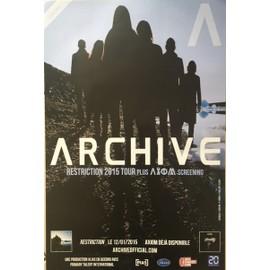 Archive - Restriction Tour - AFFICHE / POSTER Livré Roulé