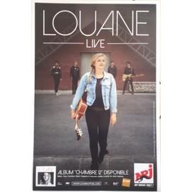 LOUANE - Chambre 12 - en concert - AFFICHE / POSTER Livré Roulé