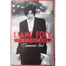 Liane FOLY - Crooneuse Tour - AFFICHE / POSTER Livré Roulé