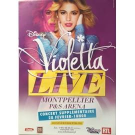 Violetta - Disney - Live - AFFICHE / POSTER Livré Roulé