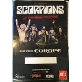 Scorpions - World Tour 2015 - 2016 - Affiche / Poster Livr� Roul�