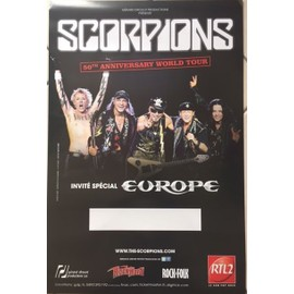 Scorpions - 50ème Anniverssaire - AFFICHE / POSTER Livré Roulé