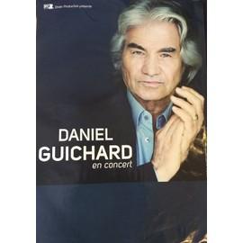 Daniel GUICHARD - En Concert - AFFICHE / POSTER Livré Roulé