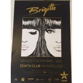 Brigitte - Concert 2015 - AFFICHE / POSTER Livré Roulé